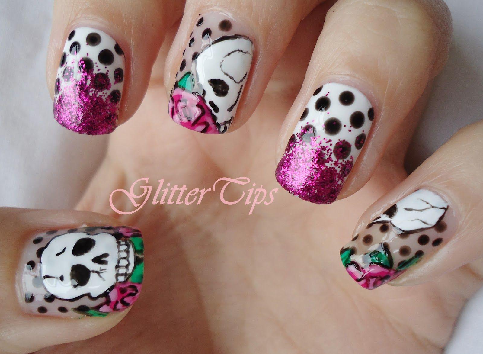 Skull nail designs get yo nails did biiihhh pinterest skull skull nail designs prinsesfo Image collections