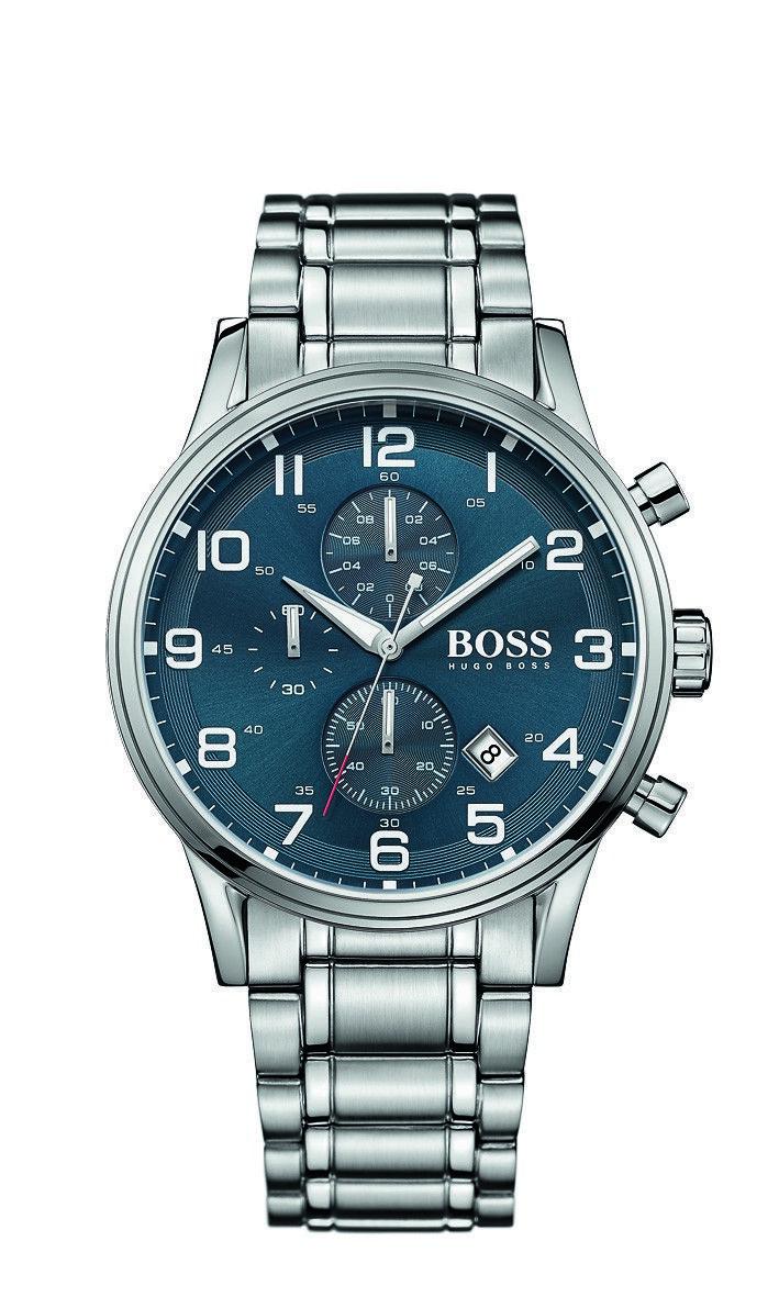c121b387ec362 Hugo Boss Aeroliner Blue Chronograph Dial Watch