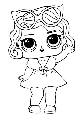 LOL Doll Leading Baby Coloring page in 2020 | Unicorn ...