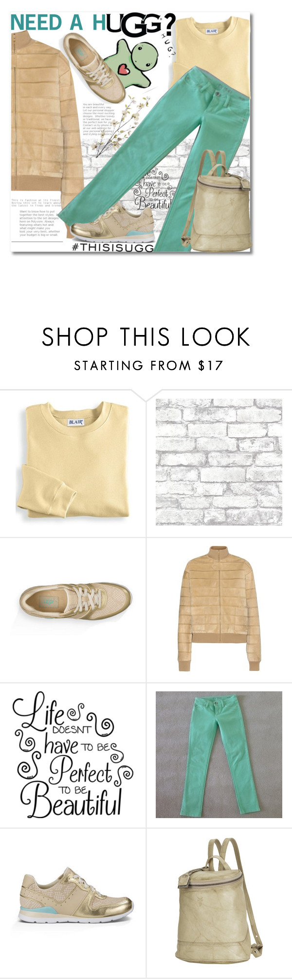 """""""Play With Prints In UGG: Contest Entry"""" by andrea2andare ❤ liked on Polyvore featuring UGG, Blair, UGG Australia, Brewster Home Fashions, Loewe, DL1961 Premium Denim, Frye, Pier 1 Imports and thisisugg"""