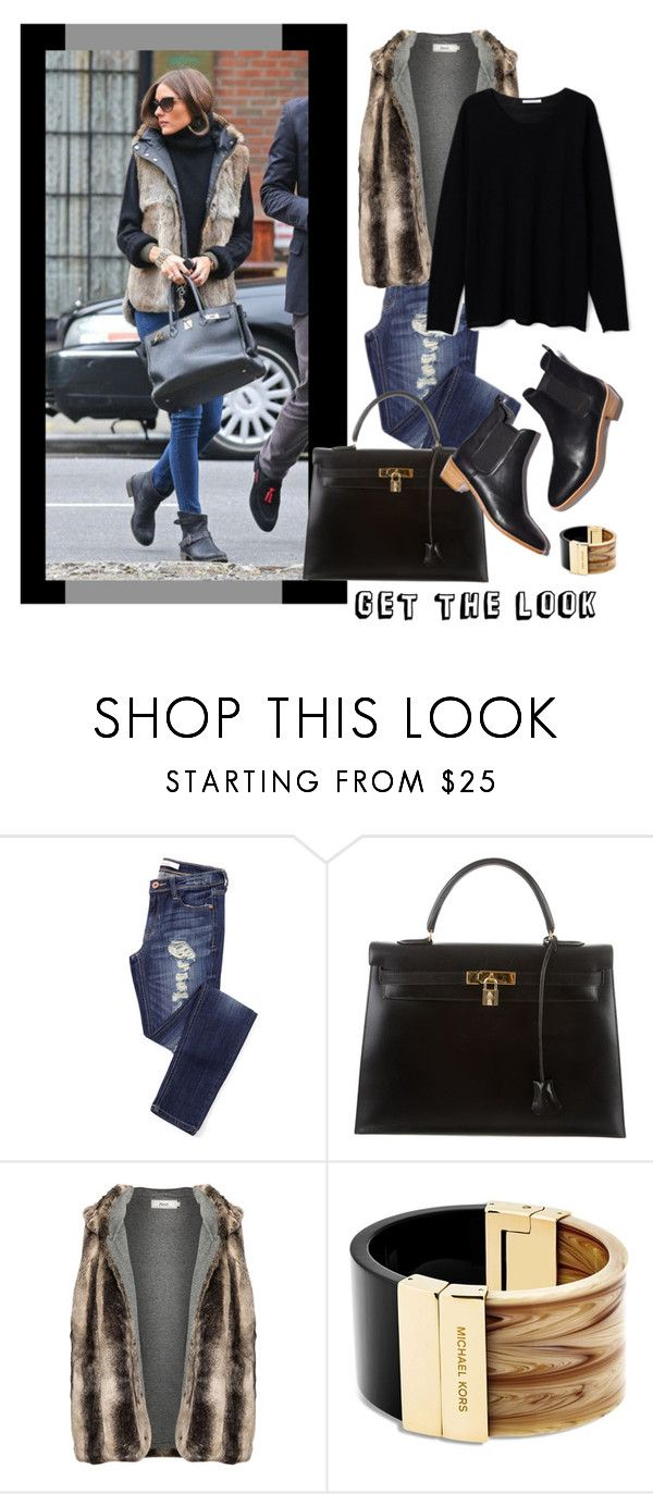 """""""Olivia Palermo, Get the Look"""" by bjigg ❤ liked on Polyvore featuring Hermès, Loeffler Randall, Zizzi and Michael Kors"""