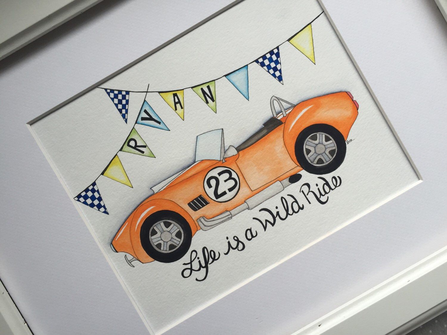 Racecar nursery wall art. Car nursery decor. Personalized nursery decor. by BMonteDesigns on Etsy https://www.etsy.com/listing/237544236/racecar-nursery-wall-art-car-nursery