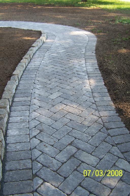 Gray Herringbone Walkway Google Search Brick Walkway
