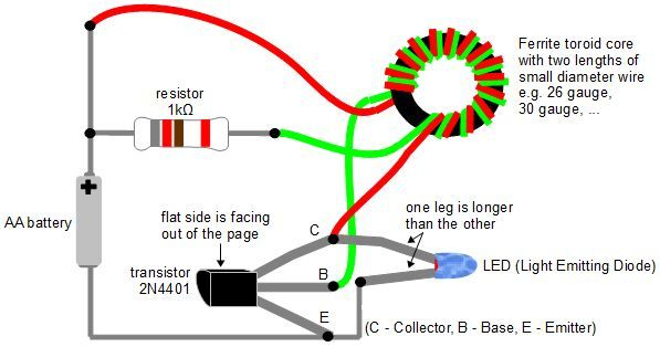 Circuit Diagram For The Joule Thief Lighting An Led New