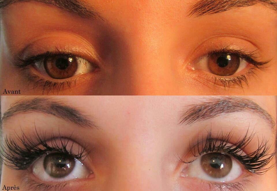 Avant et après cils