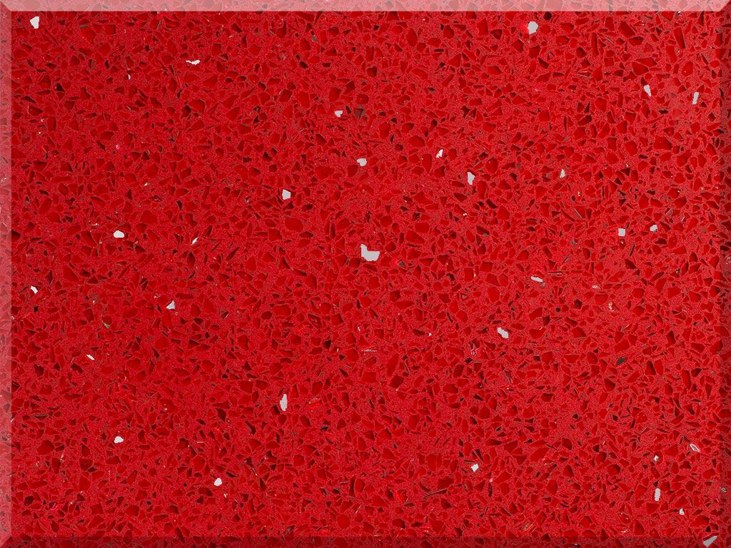 Sample Of Sparkling Red Bc186 By Vicostone Quartz Countertops