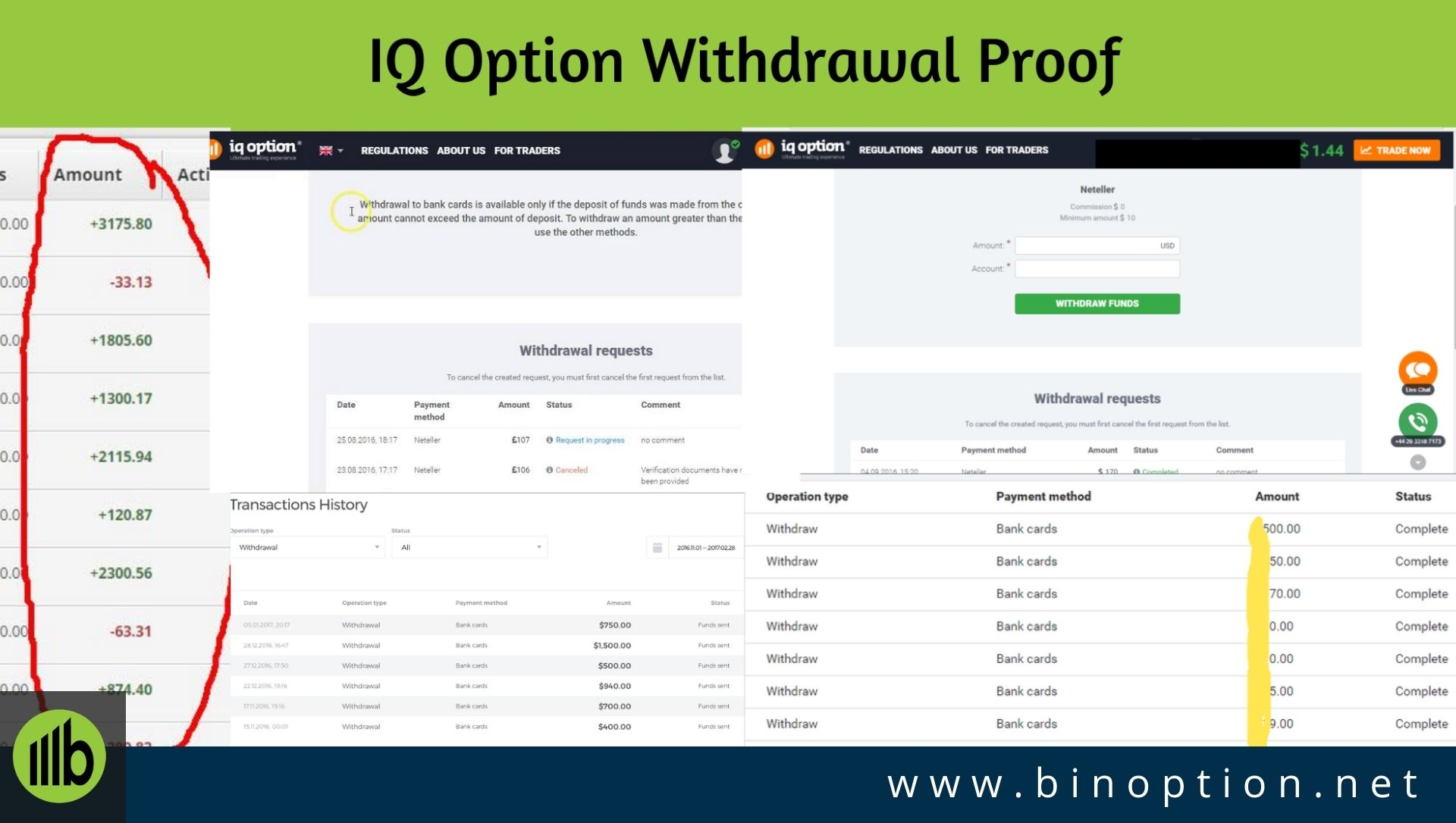 Iq Option Withdrawal And Deposit How To Proof Problems