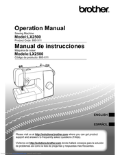 Brother Lx Operation Manual  Sewing Machine  Parts And