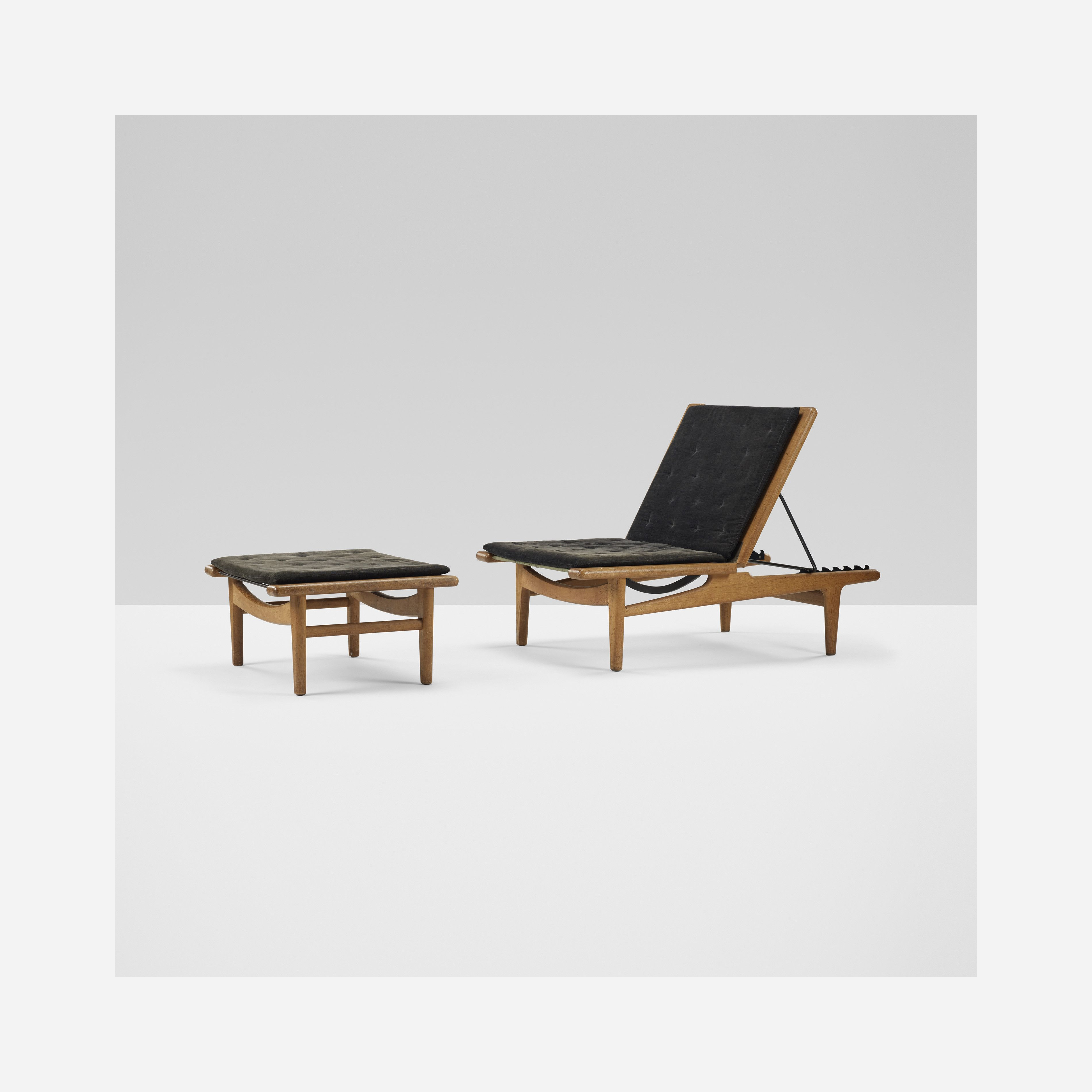 324 Hans Wegner Chaise Lounge And Ottoman Important Design 11 December 2014 Auctions