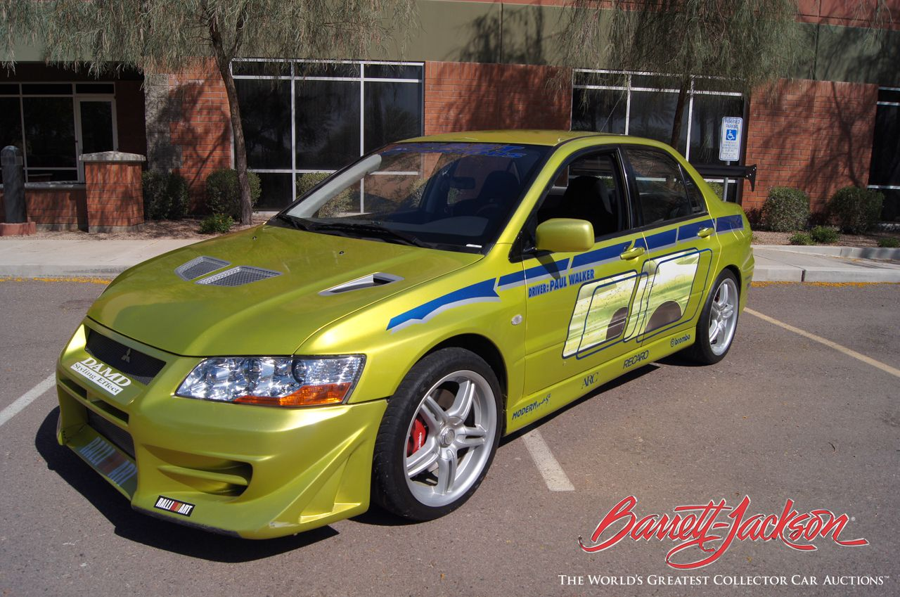 This green Mitsubishi Evo that Paul Walker drove in 2 Fast 2 Furious ...