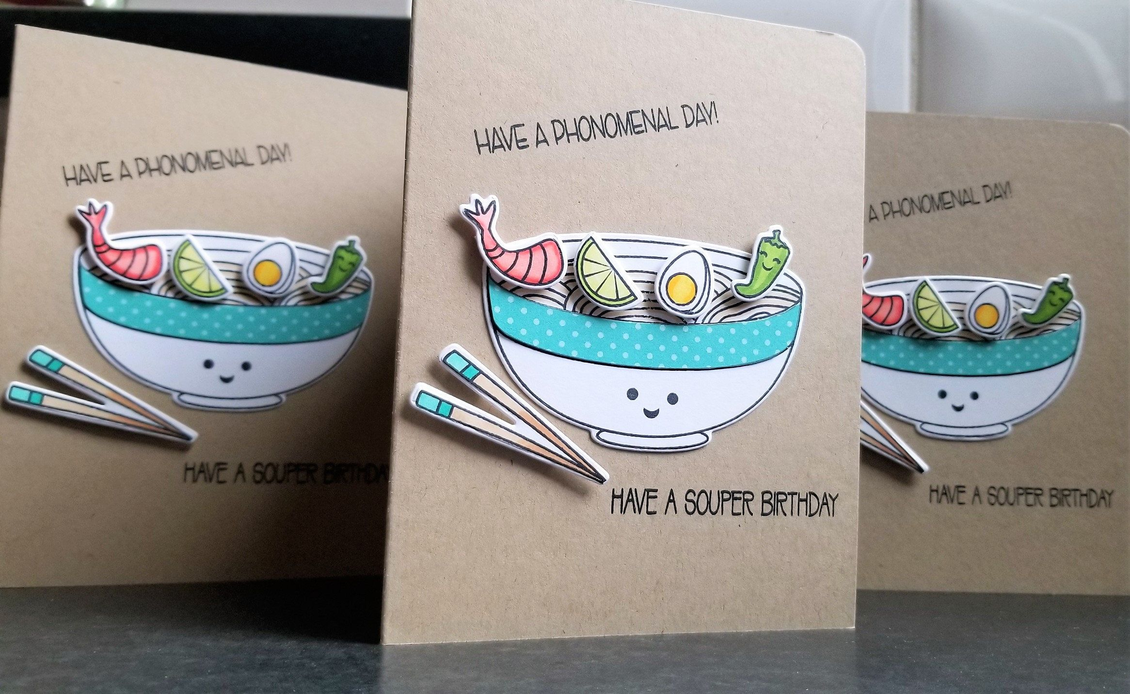 Funny birthday card for pho lover vietnamese food
