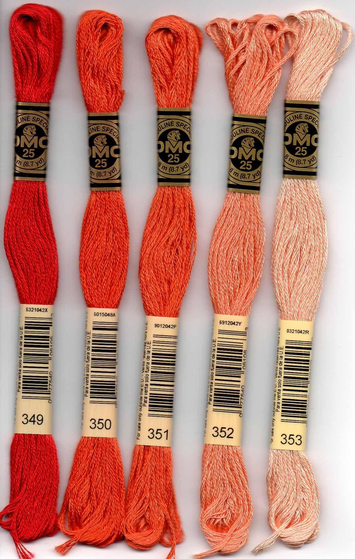 Colour 356 Medium Terra Cotta DMC Stranded Cotton Embroidery Floss
