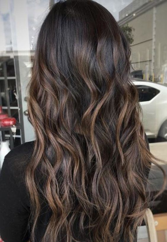 Balayage Black And Brown Clip In Remy Human Hair Extensions 1b61b