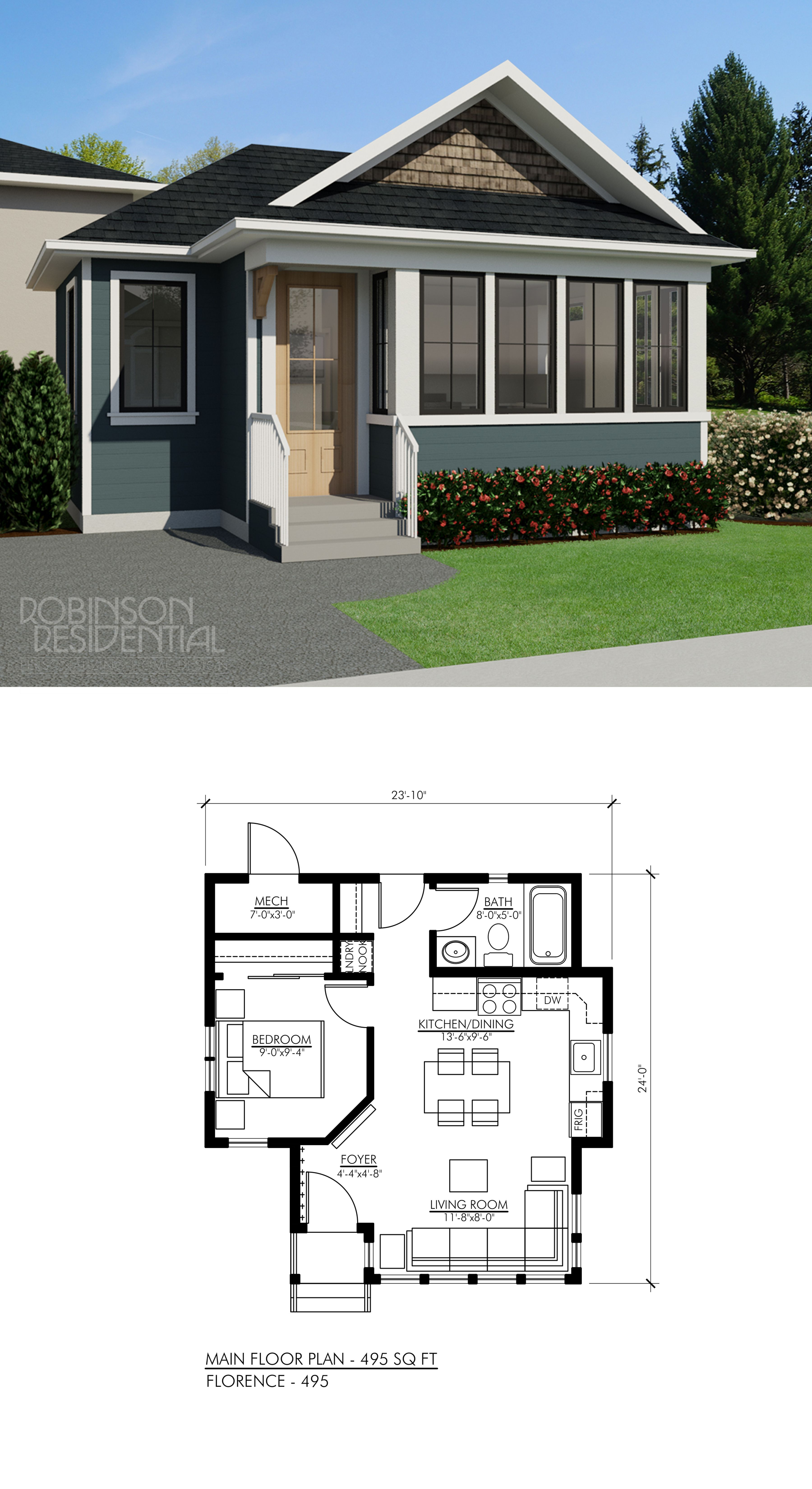 Tiny Home Designs: Craftsman Florence-495 In 2019