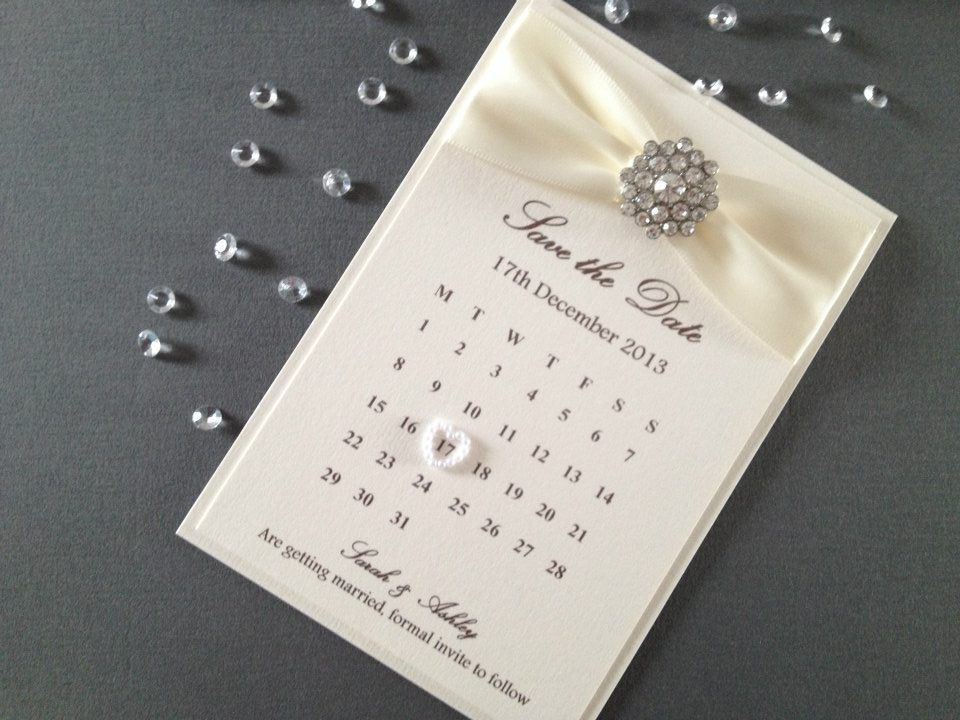 The Elegant Handmade Luxury Save Date From Chosen Touches Of Halifax Uses Double Sided Satin