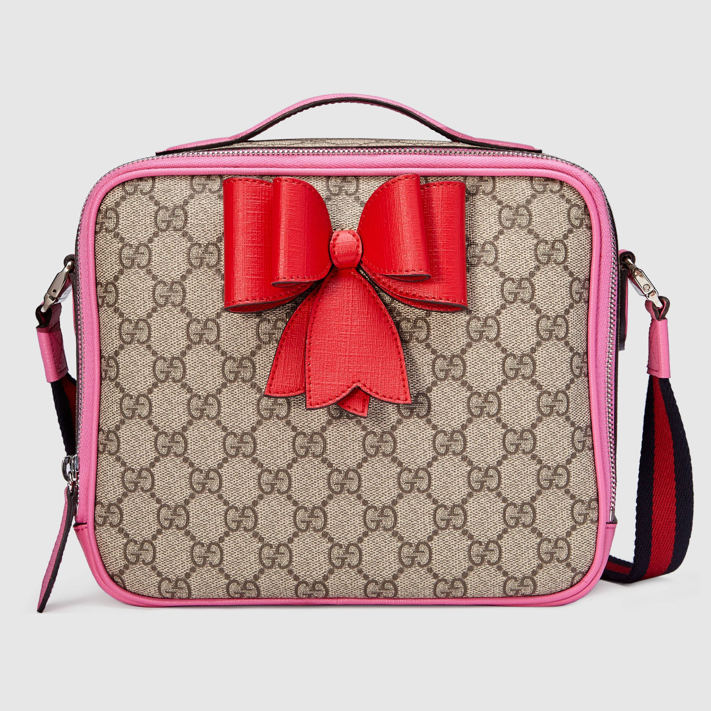 2ab0c54da47 Children s GG Supreme bow messenger - Gucci Children s Gifts 462500K8K6N8269
