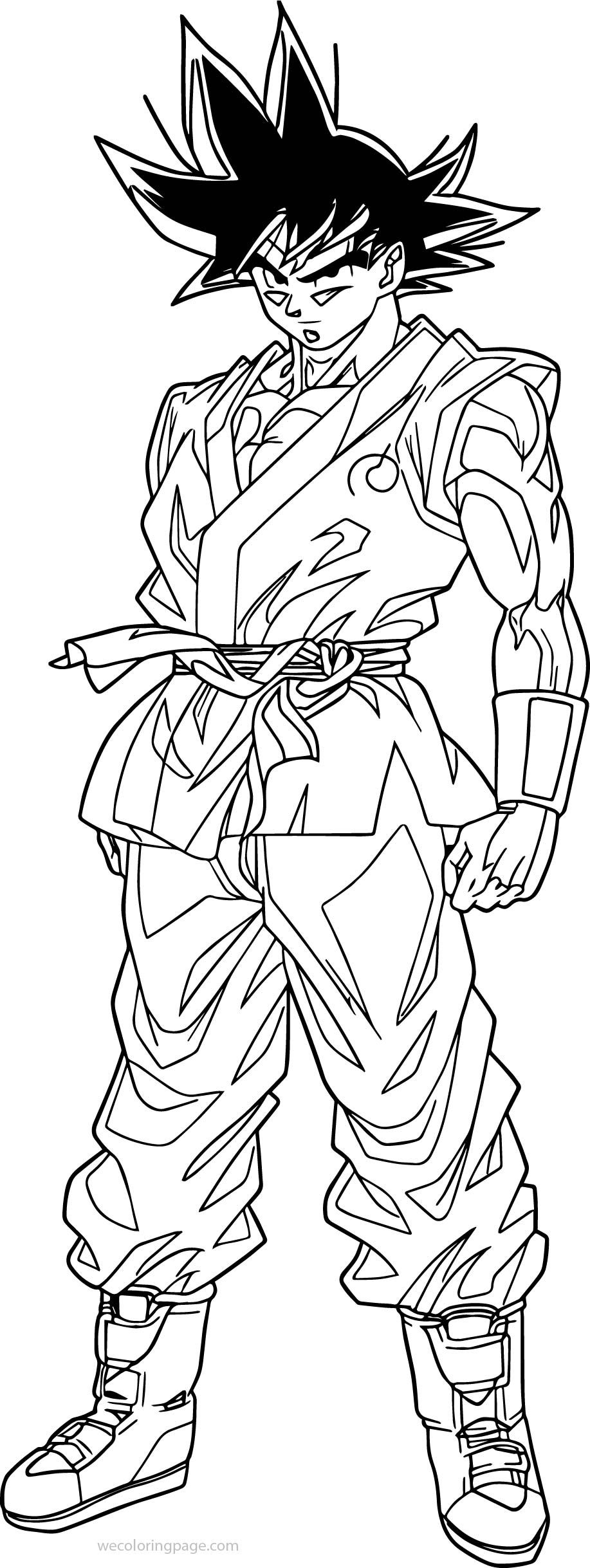 Awesome goku waiting coloring page