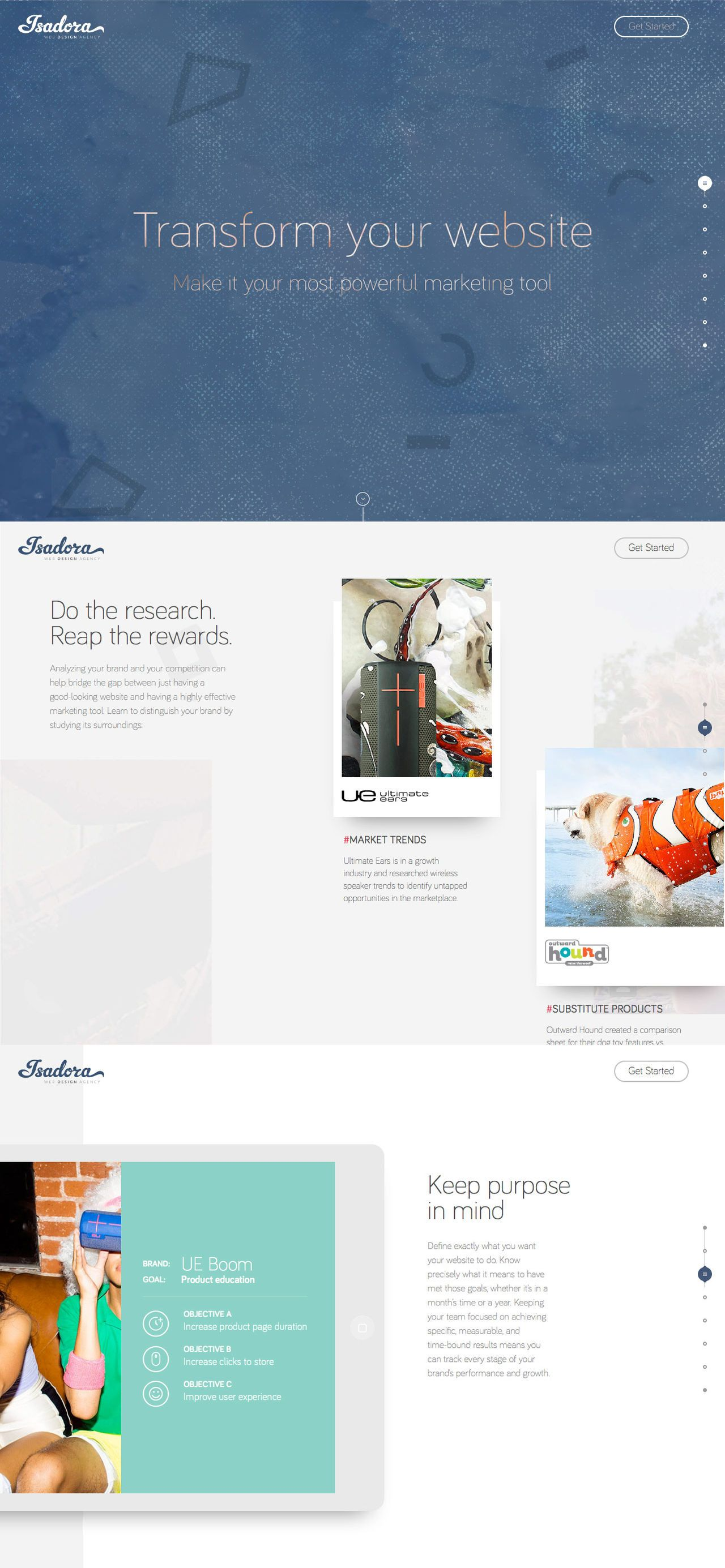 Isadora Digital Agency (More web design inspiration at ...