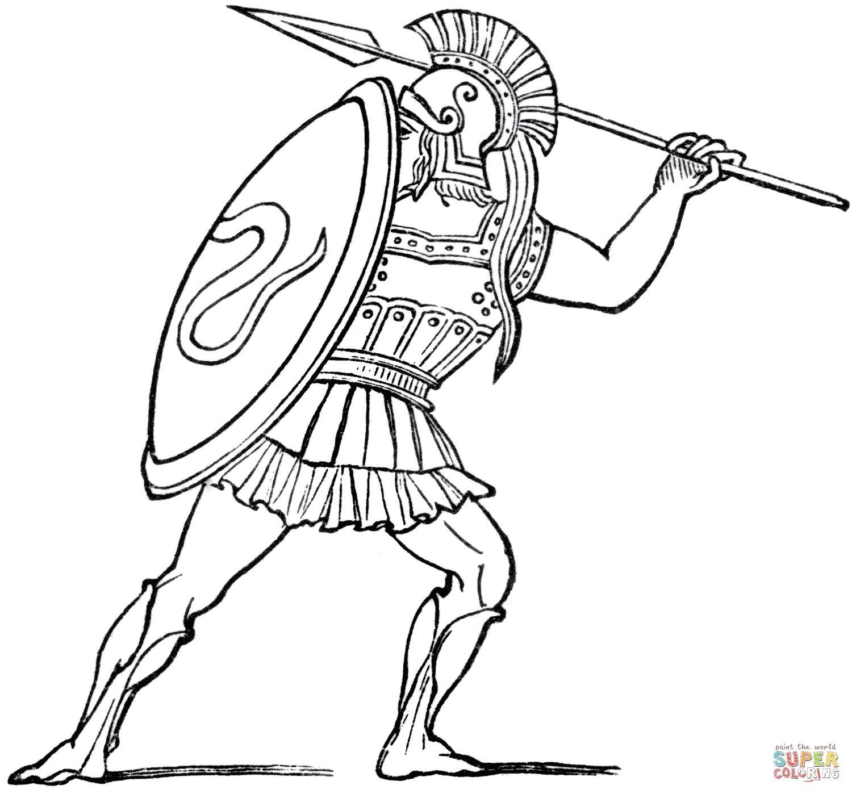 Spartan Helmet Coloring Pages Collection Statui Greciya Vojna