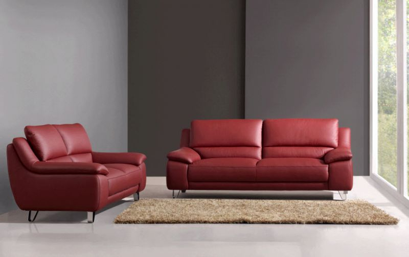 Strange Abbyson Living Valencia Red Leather Sofa And Loveseat The Creativecarmelina Interior Chair Design Creativecarmelinacom