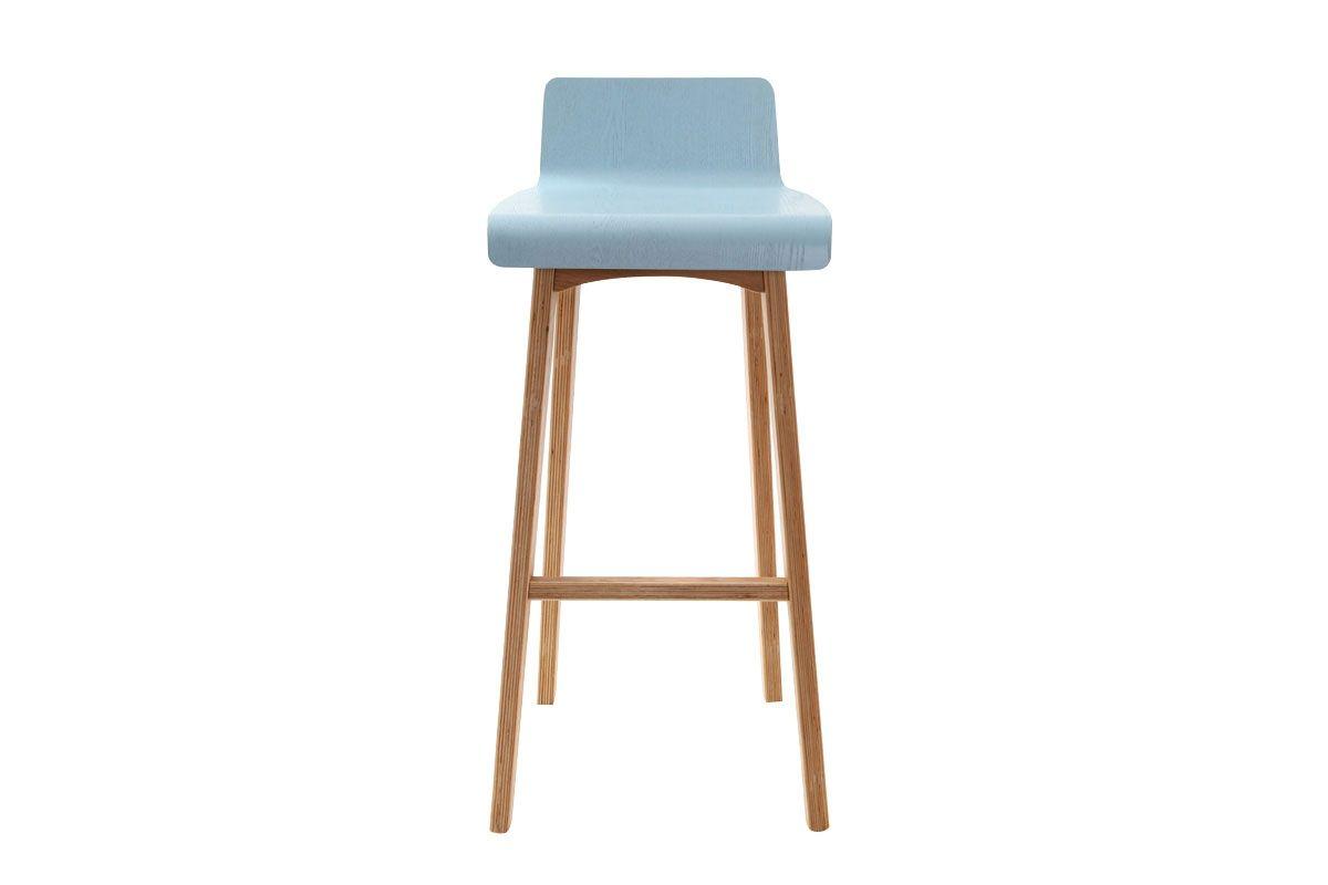 Chaise De Bar Scandinave 75 Cm Bleu Baltik Miliboo Chaise De Bar Design Chaise Bar Bar Design