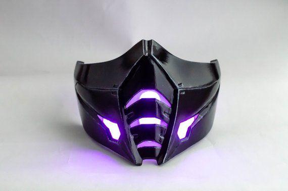 Sub Zero Injustice 2 Mask Mortal Kombat Color Leds Different