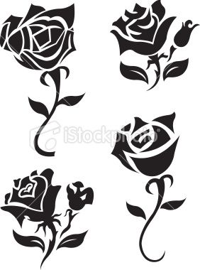 Rose Graphic Vector Tattoo Design Illustrations Of A Various Roses Flower Tattoos Black Rose Tattoos Rose Tattoos