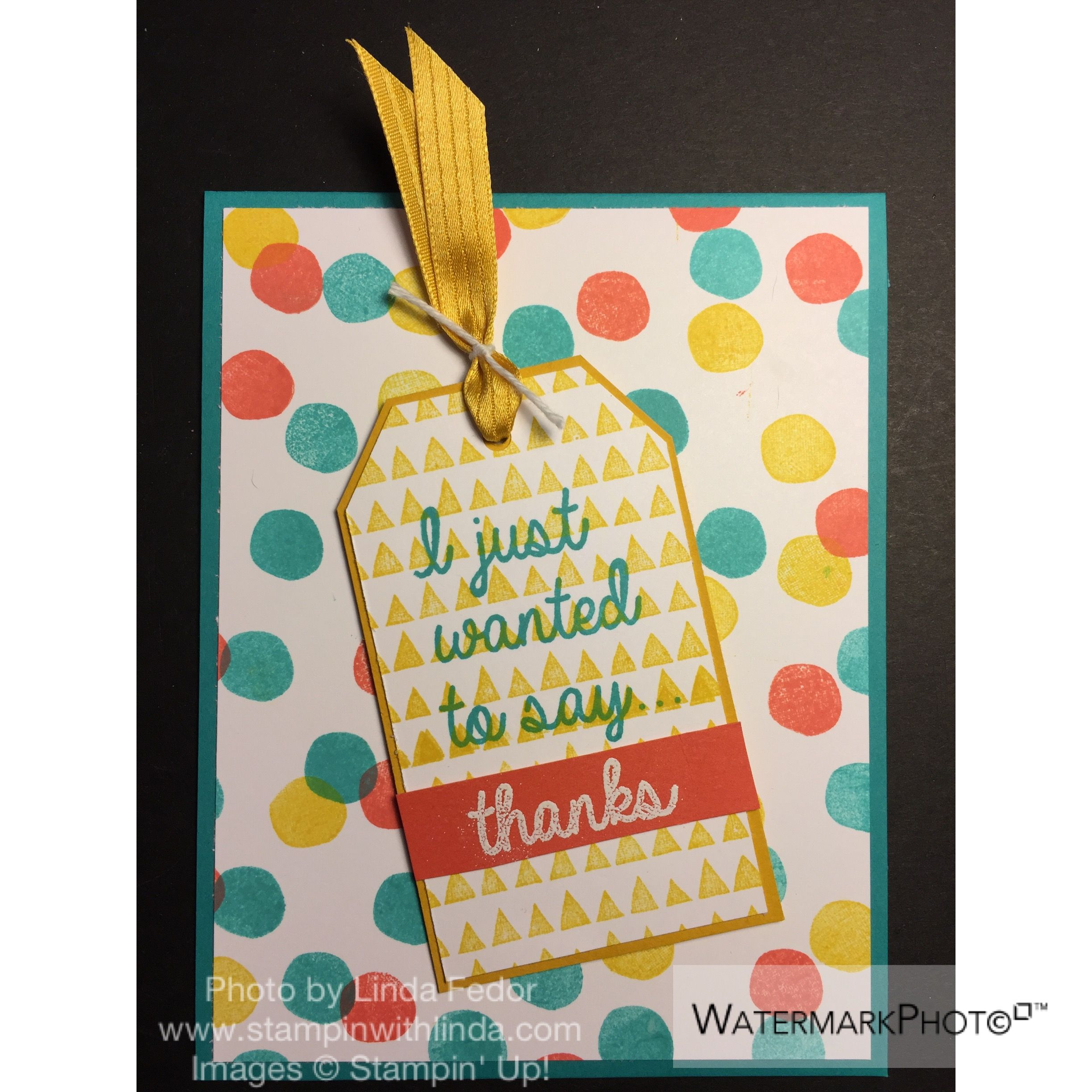 I Just Wanted to Say Thanks Alternate Paper Pumpkin Card Using Stampin' Up! February 2015 Layers of Gratitude Stamp Set/ www.stampinwithlinda.com