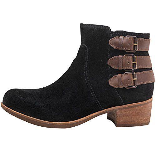 fd8ca6bb60370 Womens Ugg Womens Volta Suede Boots Black - Black/Brown - 4.5 UK 4.5 ...