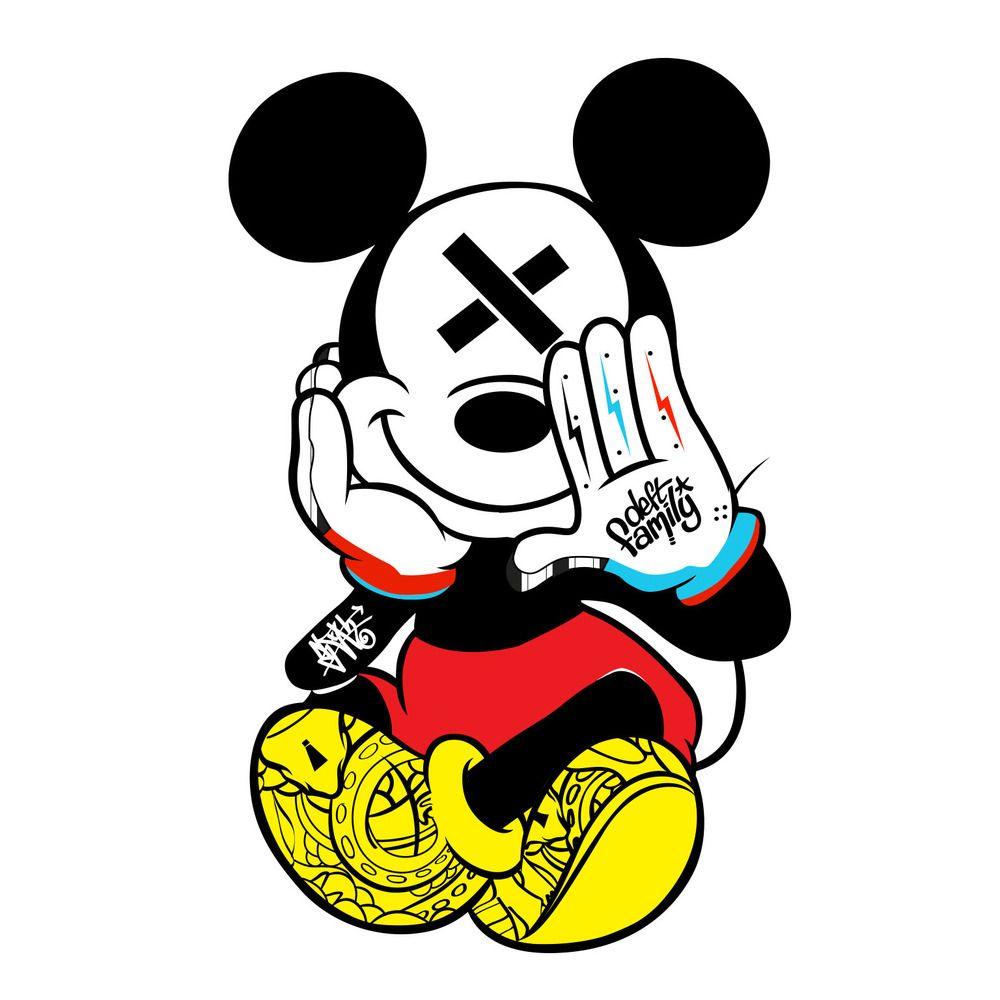 b74f49d420f44 Mickey Mouse Tattoo Designs | MadSCAR | Graffiti/Stencils in 2019 ...