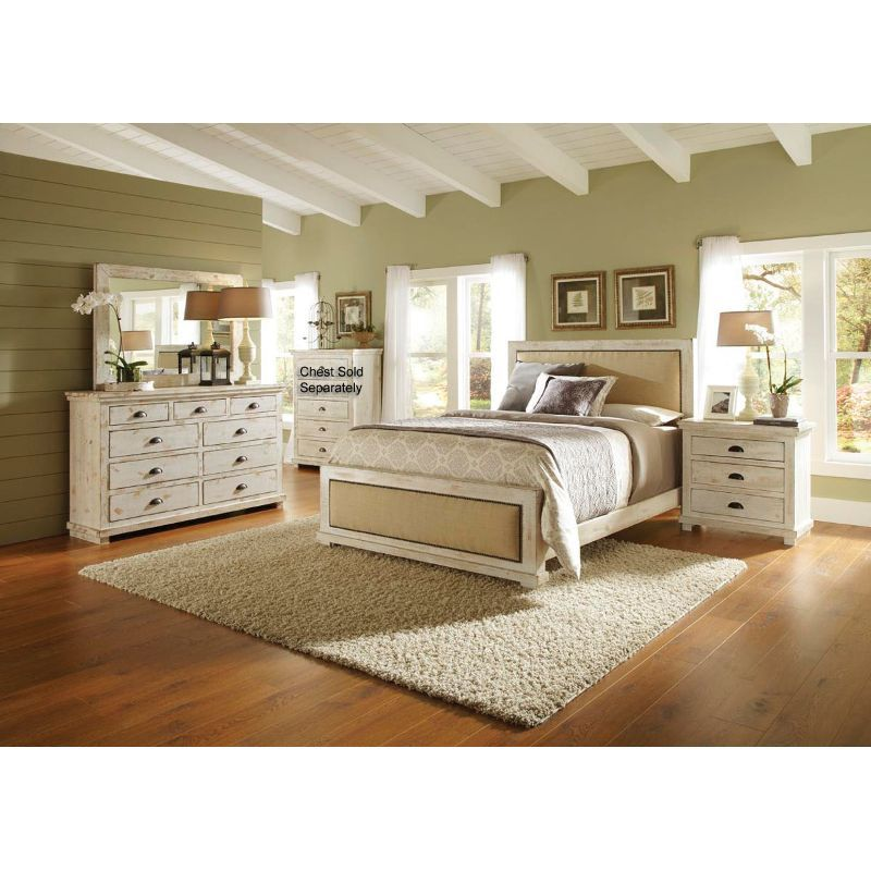 willow 6 piece queen bedroom set rc