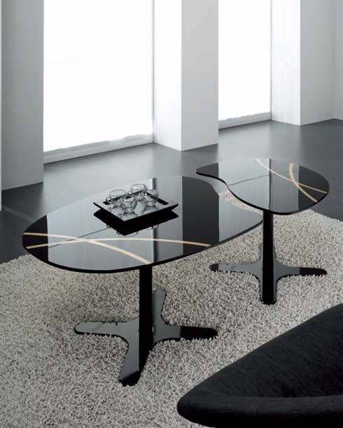 Funky Eolo Glass Coffee Table.