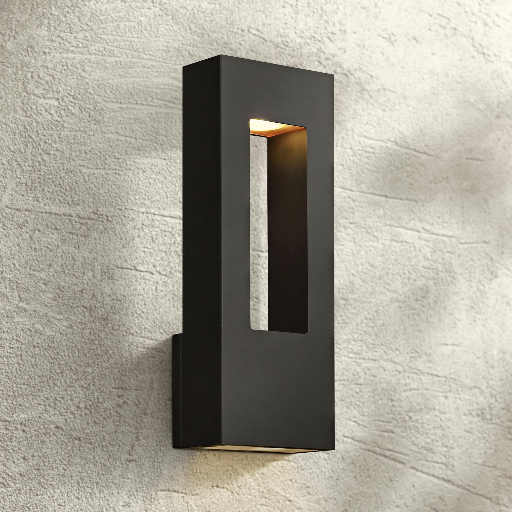 Outdoor Lighting Atlantis 16 H Black And Frosted Glass Led Outdoor Wall Light Wall Lights Outdoor Wall Lighting Led Outdoor Wall Lights