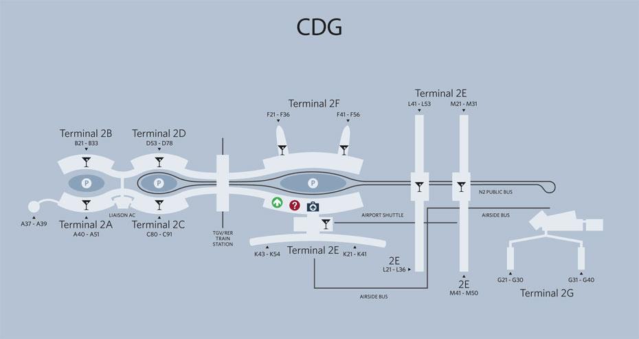 Paris-CDG Airport Map | Paris, Map, Paris france