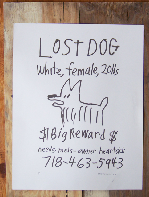 lost dog screen print by dave peterson