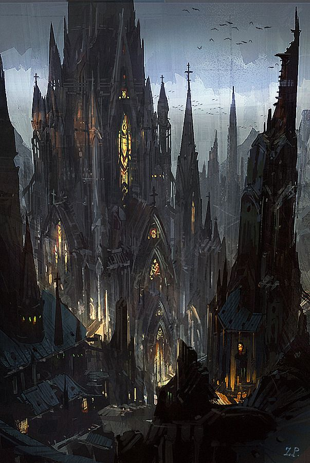 Gothic Castle Like A Dark Fortress
