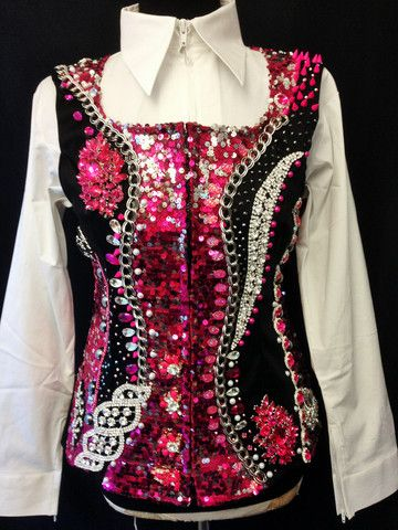 Loaded Fuchsia Show Vest – The Bling Boutique