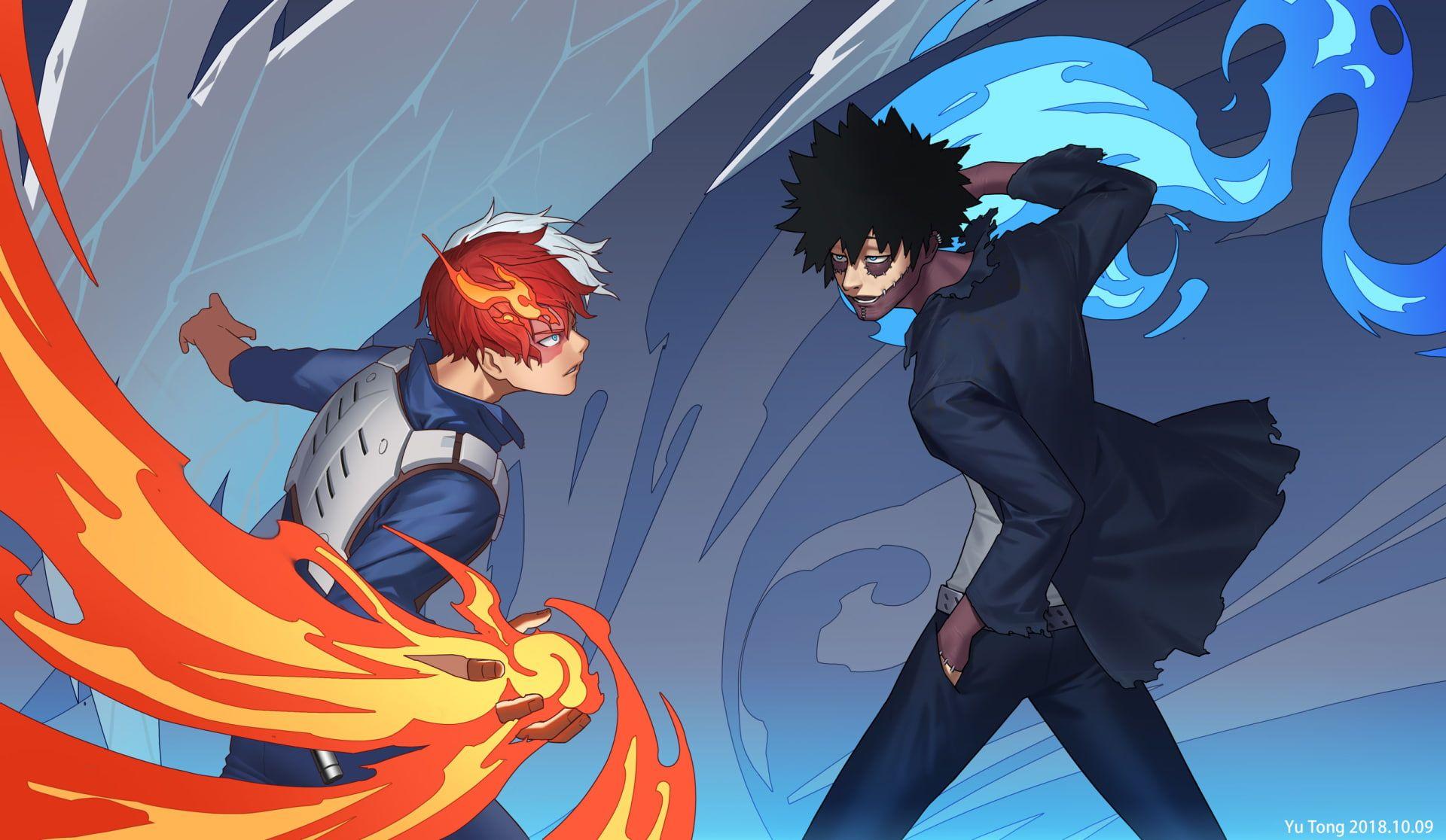 Anime My Hero Academia Dabi Boku No Hero Academia Shoto Todoroki