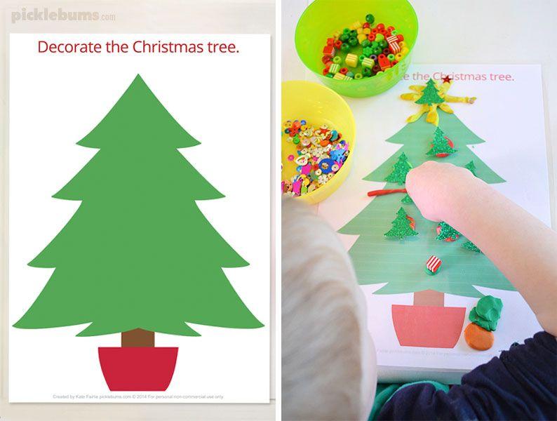 Free Printable Christmas Play Dough Mats Christmas Tree Printable Christmas Play Play Dough Christmas