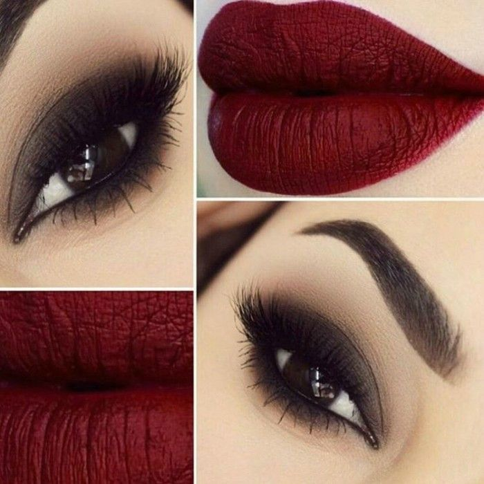 Photo of evening makeup tutorials for lips and eyes