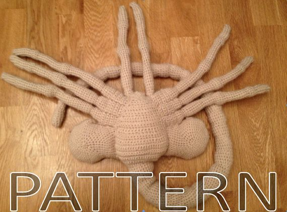 Crocheted Facehugger Get The Instant Download Pattern For This