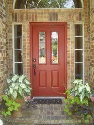 yellow brick house red door. front doors that pop for pale yellow brick homes - google search house red door