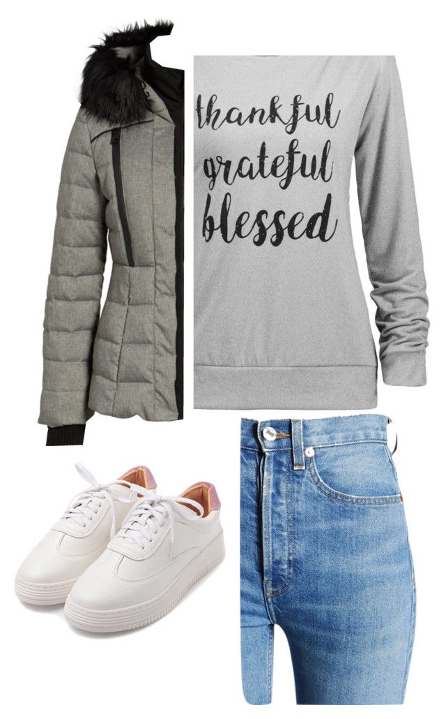 """""""Untitled #717"""" by emily147147 ❤ liked on Polyvore featuring RE/DONE and GUESS"""