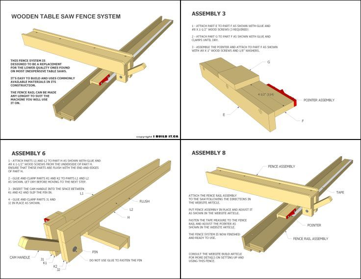 Image Result For Diy Table Saw Fence Plans Woodworking Pinterest