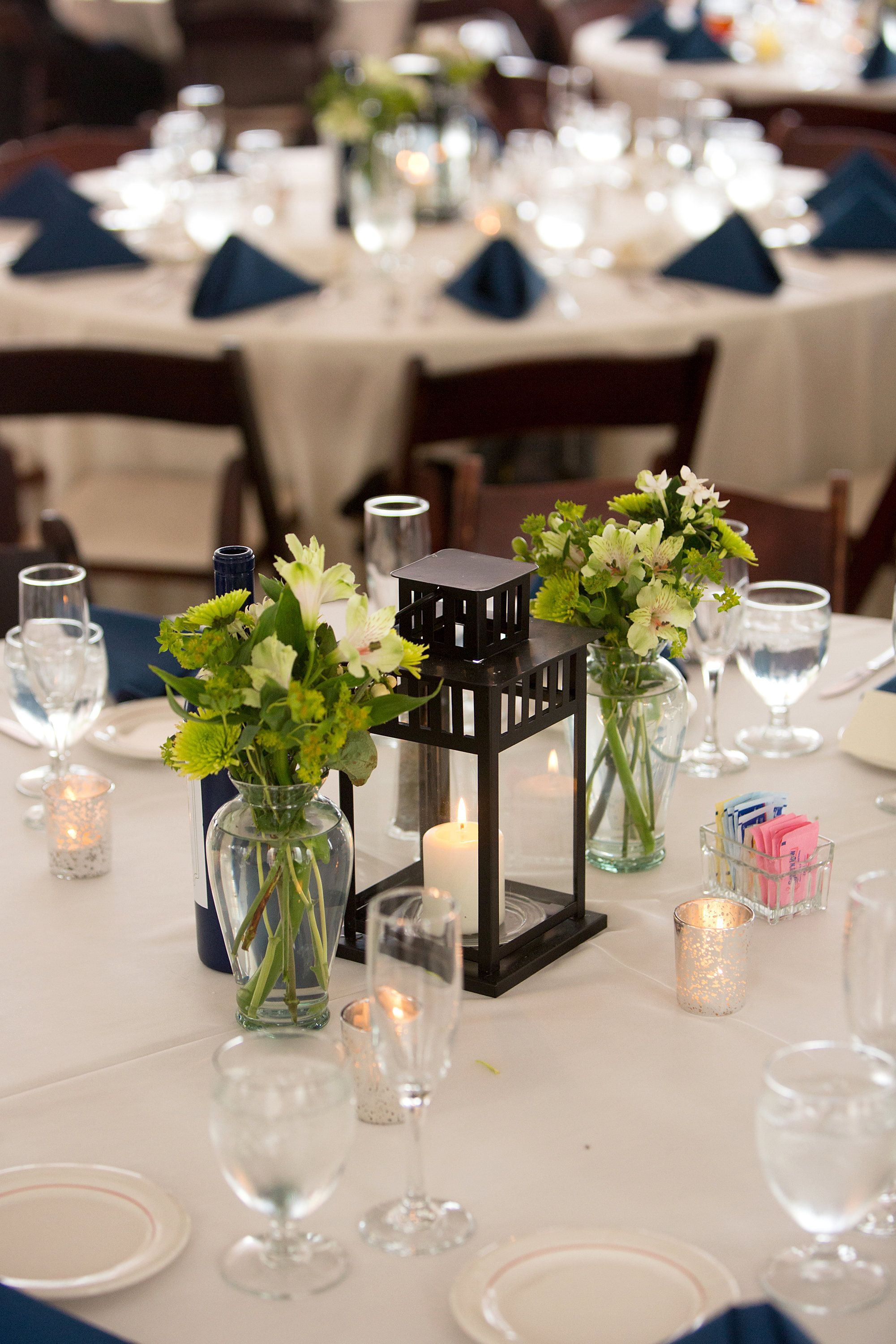 lantern centerpiece Reception Tables Pinterest
