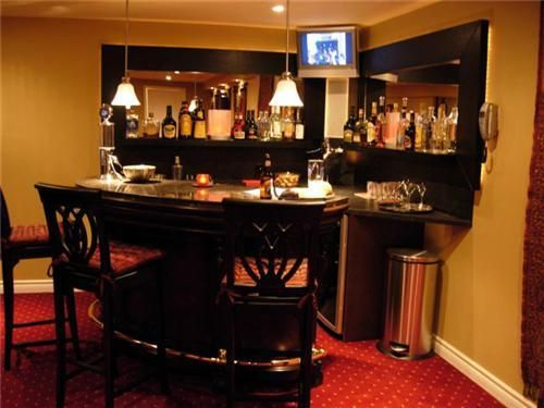 Corner Bar Man Cave Basement Bar Designs Home Bar Designs