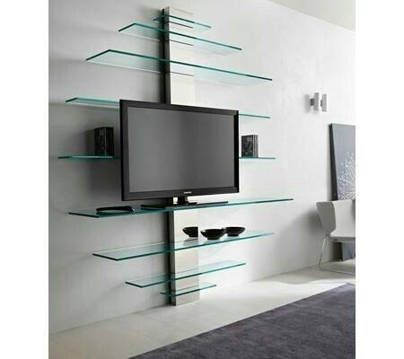 Mueble tv de vidrio