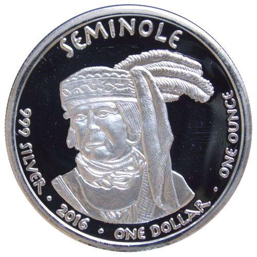 2016 1 Oz Proof Florida Seminole Alligator Silver Coin Silver Coins Coins Proof Coins