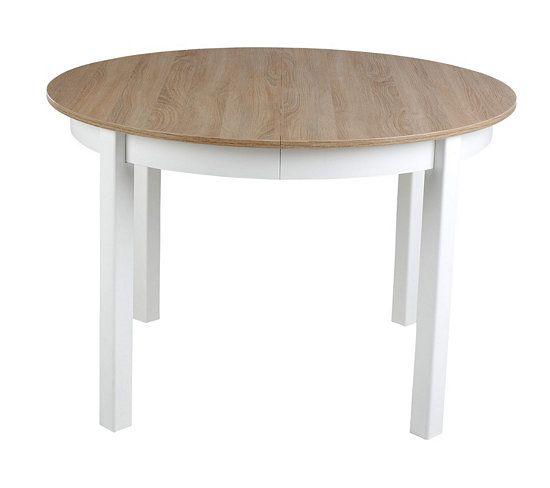 table ronde avec allonge ruben blanc