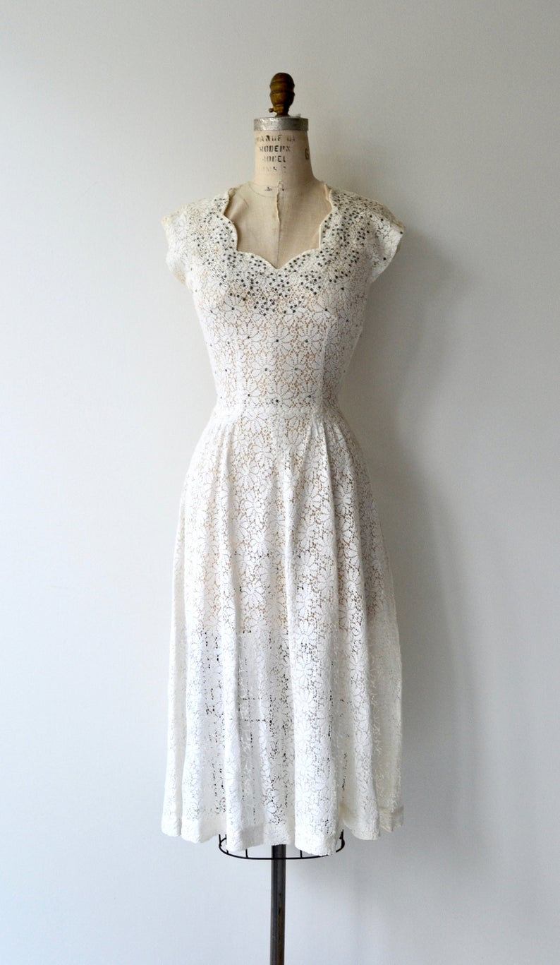 Ellesmere Dress 1950s White Lace Dress Vintage 50s Dress Etsy Lace Dress Vintage Vintage Dresses 50s Lace White Dress [ 1367 x 794 Pixel ]
